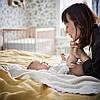 Одеяло покрывало вязаное 100% хлопок мягкое тёплое 70x90 см IKEA GULSPARV белое детское ИКЕА ГУЛЬСПАРВ, фото 5