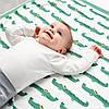 Плед акриловий в'язаний м'який теплий кремово-білий 130x170 см IKEA ІНГАБРІТТА ІКЕА, фото 4
