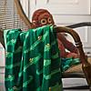Плед акриловий в'язаний м'який теплий кремово-білий 130x170 см IKEA ІНГАБРІТТА ІКЕА, фото 5