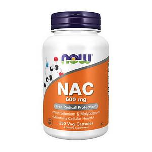 Ацетилцистеин NOW NAC 600 mg 250 veg caps