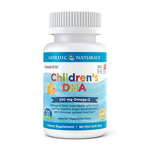 Рыбий жир для детей Nordic Naturals Children`s DHA 90 mini soft gels