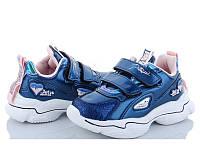 Кроссовки детские для девочки Pikos блестящие 26 Синий 522324, КОД: 2361329