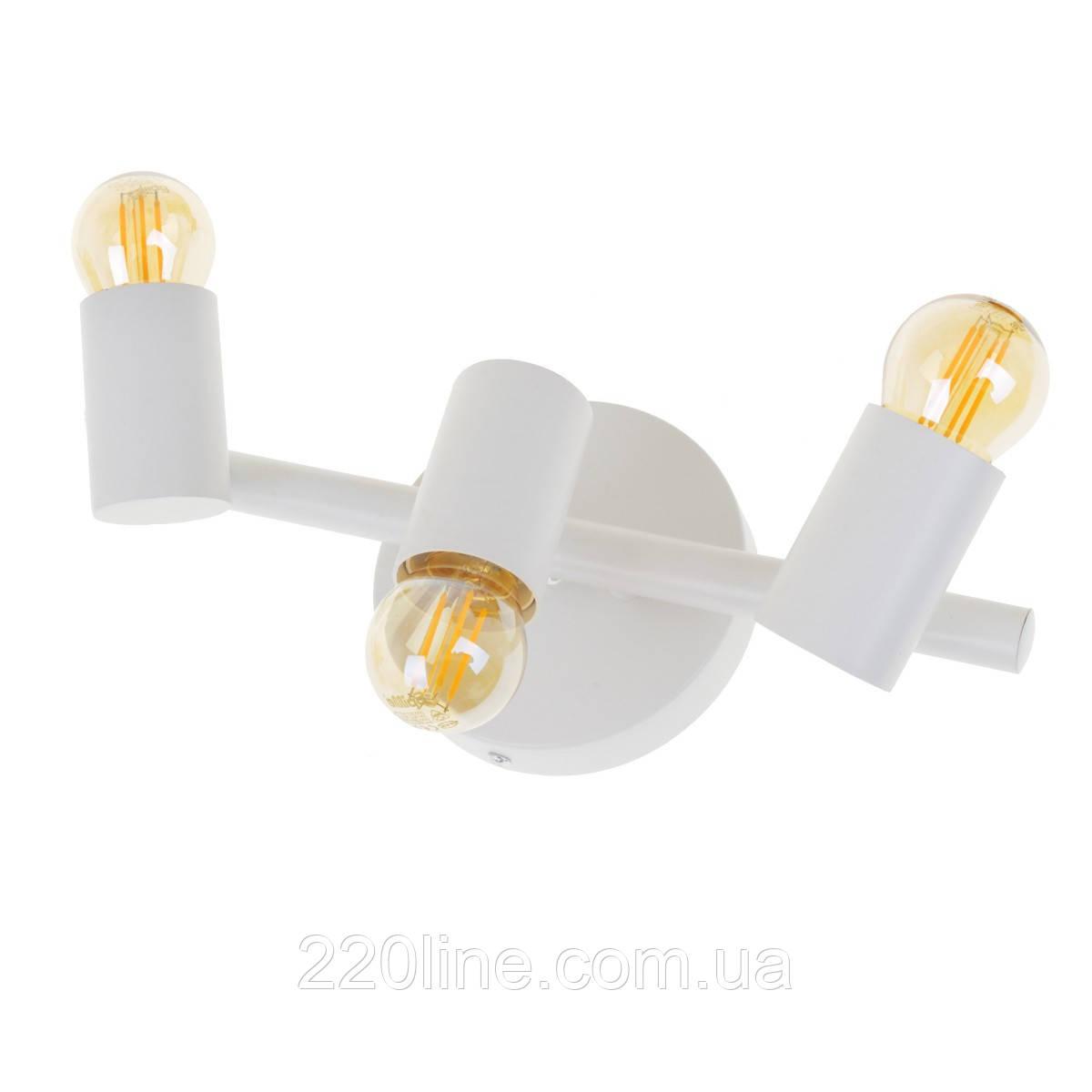 Светильник лофт спот накладной HTL-500/3 E27 WH