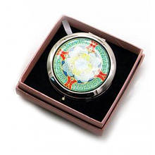 Зеркальце косметическое Узор хром 45318, КОД: 1364824