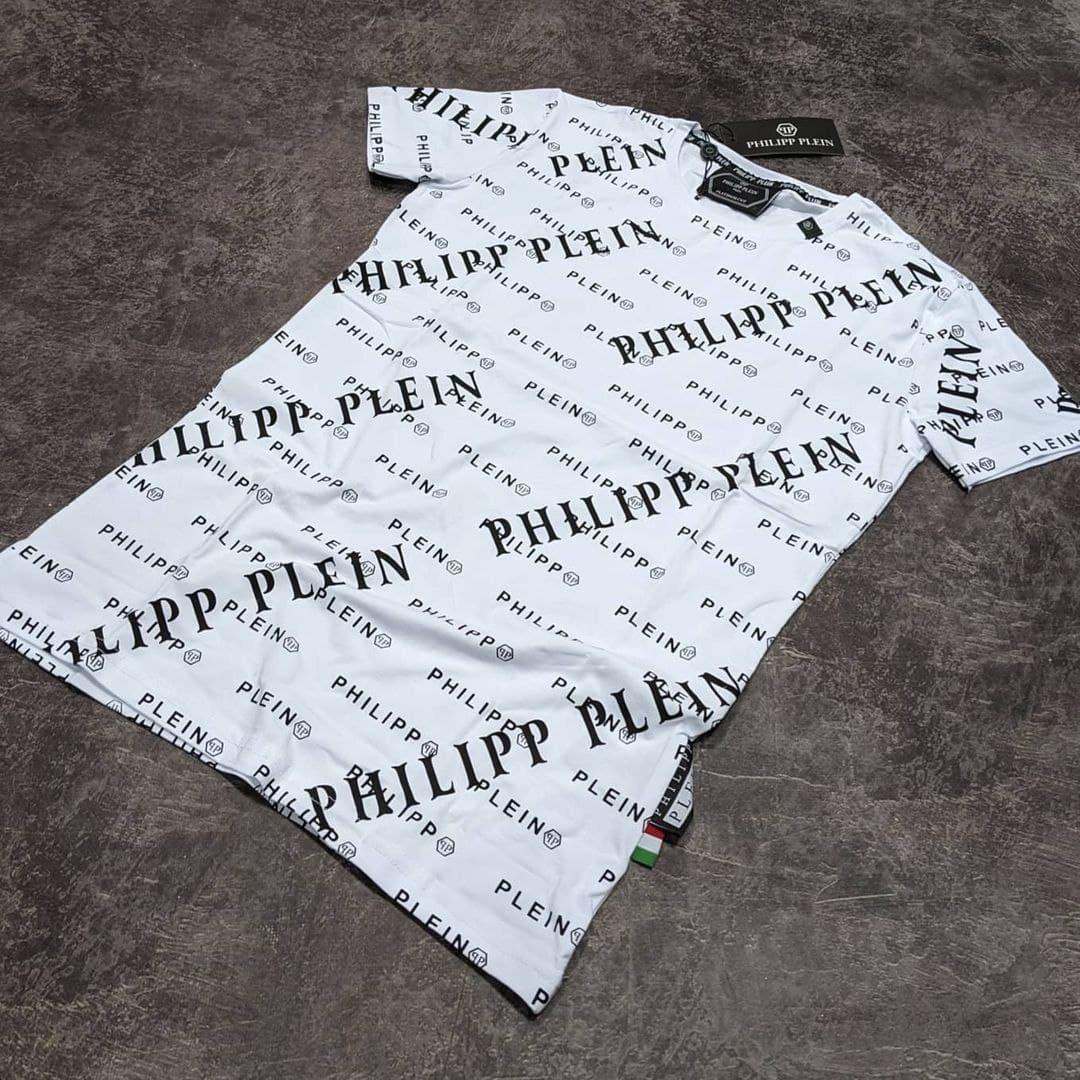 Мужская футболка Philipp Plein CK1831 белая