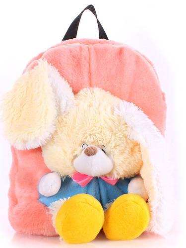 Рюкзак детский с Зайкой Poolparty backpack-rabbit-rose розовый