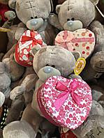 Мишка с коробкой для подарка, мишка с сердцем, 14 февраля