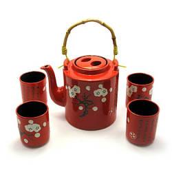 Сервиз керамический чайник, 4 пиалы 50806, КОД: 1367062