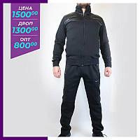 Мужской спортивный костюм Nike черный. Чоловічий спортивний костюм Nike чорный
