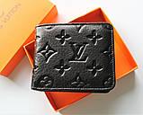 Чоловічий гаманець Louis Vuitton чорний, фото 2