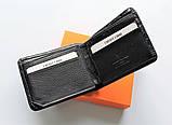Чоловічий гаманець Louis Vuitton чорний, фото 3