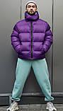 Зимняя мужская куртка Пушка Огонь Homie фиолетовая, фото 2