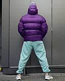 Зимняя мужская куртка Пушка Огонь Homie фиолетовая, фото 3
