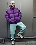Зимняя мужская куртка Пушка Огонь Homie фиолетовая, фото 4