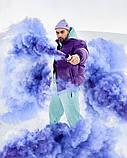 Зимняя мужская куртка Пушка Огонь Homie фиолетовая, фото 5