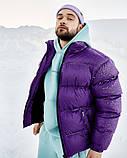 Зимняя мужская куртка Пушка Огонь Homie фиолетовая, фото 6