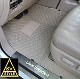 Килимки на Toyota Sequoia Шкіряні з текстильними накидками 3D (2008-2016), фото 9