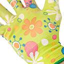 """Перчатки садовые с нитриловым покрытием 8"""" зеленые INTERTOOL SP-0163, фото 2"""