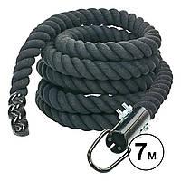 Канат спортивный для лазанья с креплением UR (l-7м, d-4,5см) R-6224-7