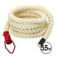 Канат спортивний для лазіння з кріпленням (5,5 м ) SO-5303