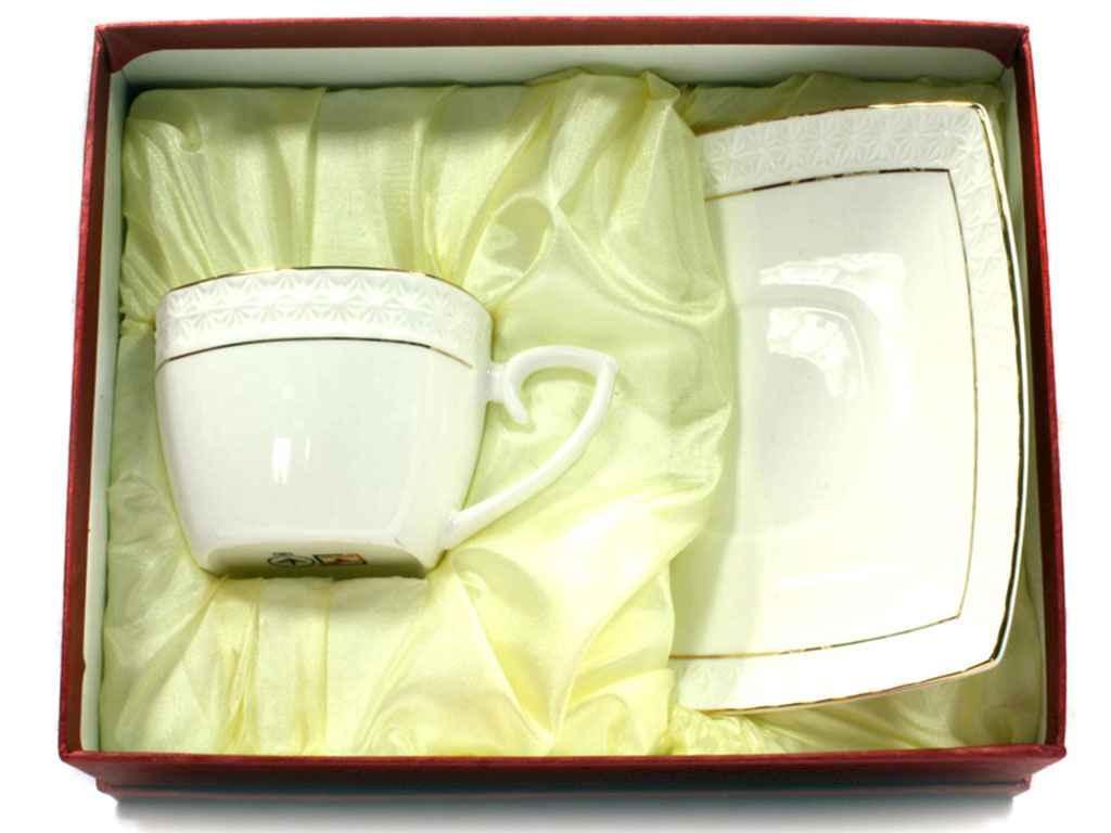 Набір 2-х предметний чайний (чашка квадр. 240 мл з блюдцем) S507009-AGIFT ТМ KO