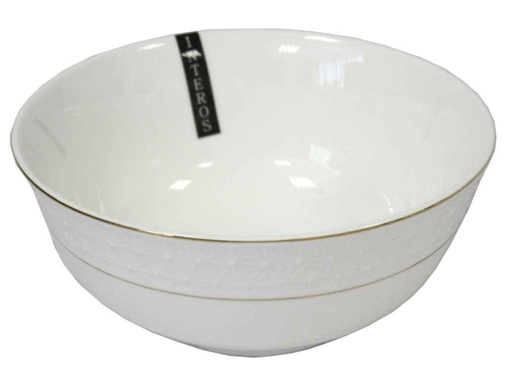 Салатник фарф. білий круглий 6 (6шт.в уп) 011715-А ТМ KORALL