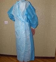 Халат одноразовый защитный комбинированный р. L (50-52) стерильный