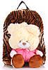 Рюкзак детский с Мишкой и принтом Poolparty kiddy-backpack-tiger коричневый