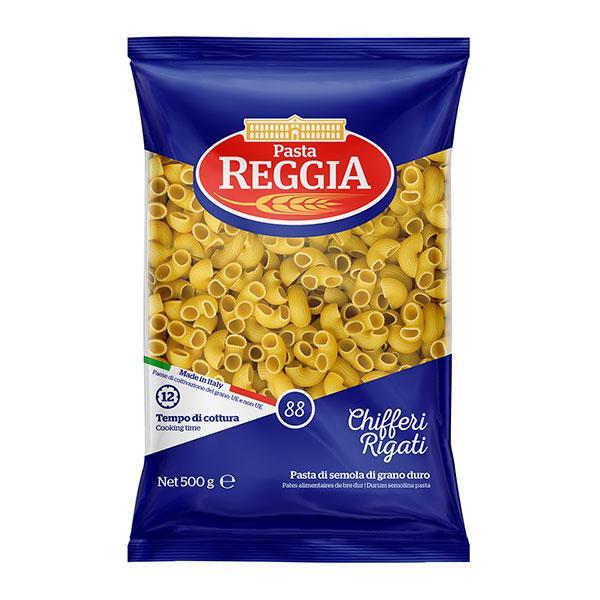 Макароны Pasta Reggia 88 Chifferi Rigati Рожки изогнутые 500 г. (Италия)