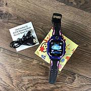 Детские смарт часы Baby Smart Watch Q6 с камерой GPS трекером сим sim картой умные фиолетовые телефон