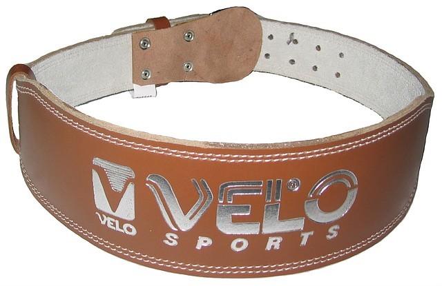 Пояс для тяжелой атлетики Velo кожаный узкий