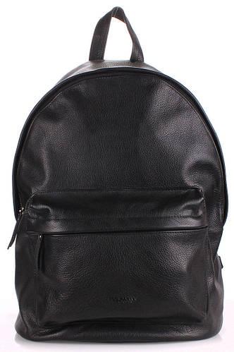 Рюкзак кожаный POOLPARTY backpack-leather-black черный