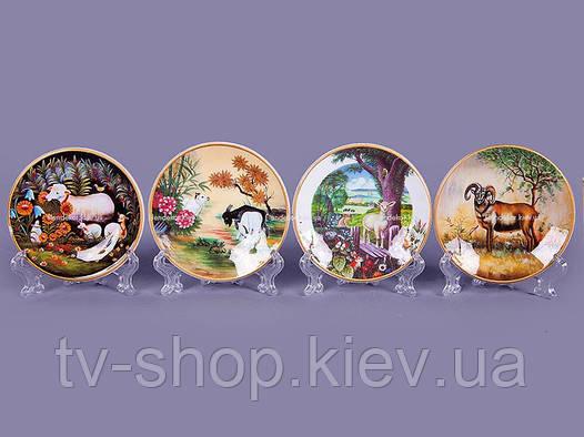 Декоративная тарелка на подставке (в ассорт.)