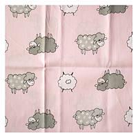 Ткань розовая 52х40 см Барашки