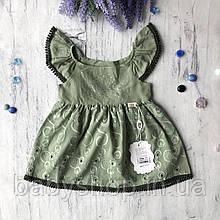 Летнее платье на девочку 53. Размер 74 см, 80 см
