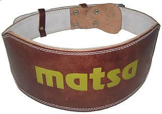 Важкоатлетичний Пояс Matsa широкий шкіряний