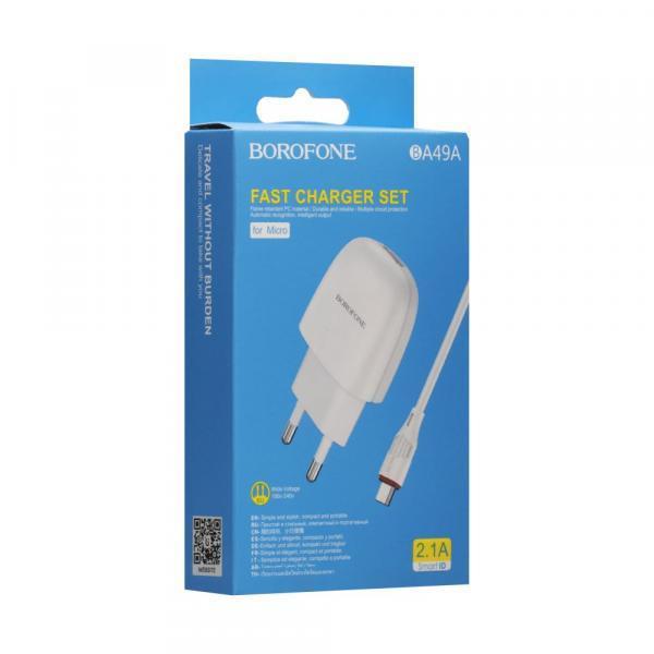 Мережевий Зарядний Пристрій Borofone BA49A Micro