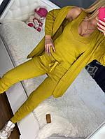 Женский вязаный костюм-тройка, фото 1