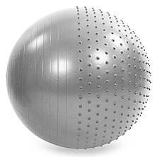 Мяч для фитнеса (фитбол) полу-массажный 75 см, фото 3