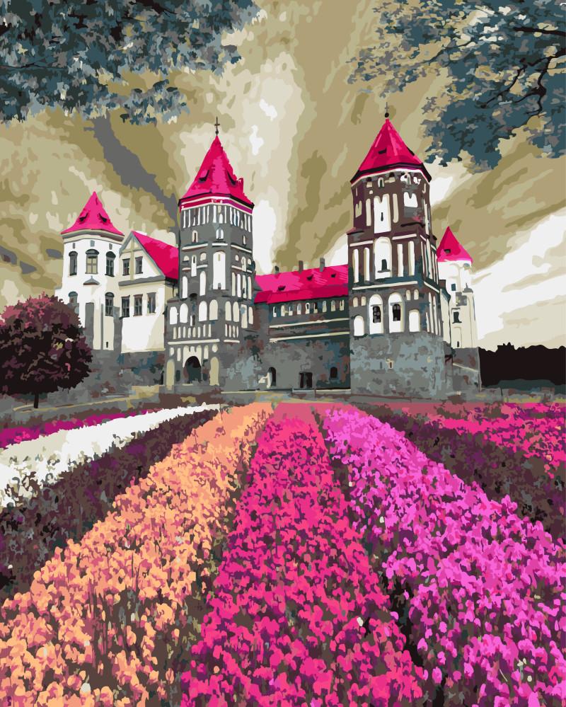 Картины по номерам 40х50 см Brushme Мирский замок в цветах (GX 3288)