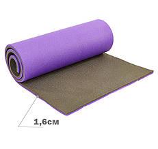 Тослый коврик туристический (каремат) двуслойный 16 мм (коврик туриста)  Коврик кемпинговый