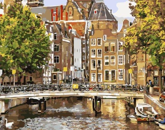 Картины по номерам 40х50 см Brushme Старый Амстердам (GX 21691)