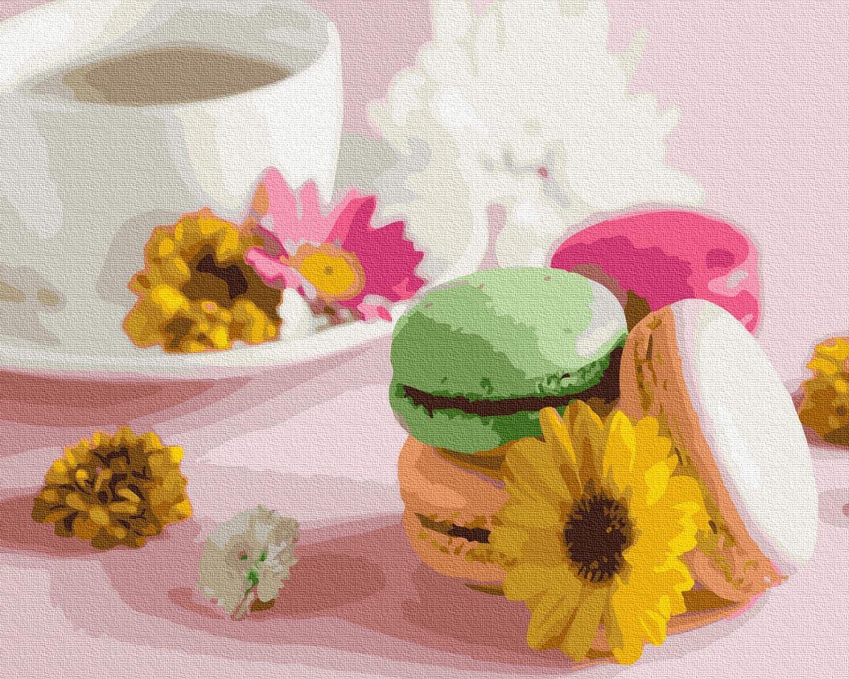 Картины по номерам 40х50 см Brushme Цветочные макаруны (GX 37550)