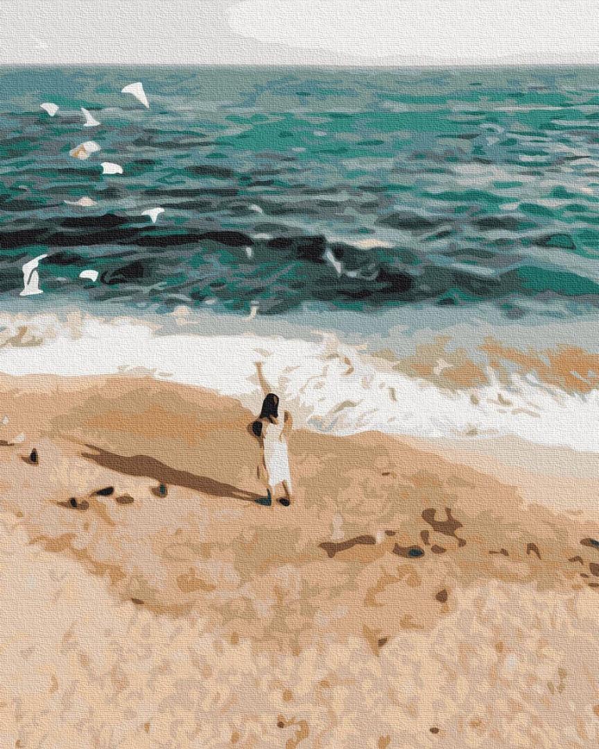 Картины по номерам 40х50 см Brushme Фигура на побережье (GX 37562)