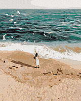 Картины по номерам 40х50 см Brushme Фигура на побережье (GX 37562), фото 1
