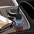Автомобильное зарядное устройство для телефона Hoco Z39 QC3.0 (2USB) + MicroUSB Синий, фото 4