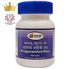 Арогьявардхини Раса (Arogyavardhini Rasa, SDM), 100 табл. по 350 мг - Аюрведа преміум якості