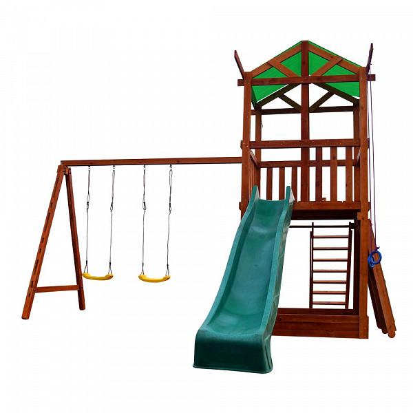 Дитячий спортивний дерев'яний майданчик Babyland-4, розмір 3.2х4.1х4.4м