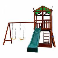 Дитячий спортивний дерев'яний майданчик Babyland-4, розмір 3.2х4.1х4.4м, фото 1
