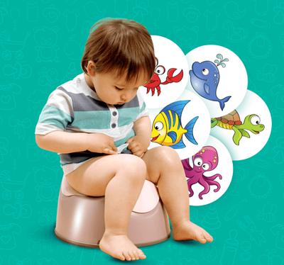 Наклейки для привчання дитини до горщика MAGIC STICKER